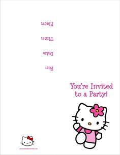 free hello kitty printables   Hello Kitty FREE Printable Birthday Party Invitation Personalized ...