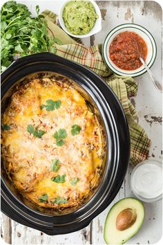 Now that I have three kids, I have less time to cook than ever before. That's why this Slow Cooker Mexican Lasagna was born! Clean up is a snap, too.