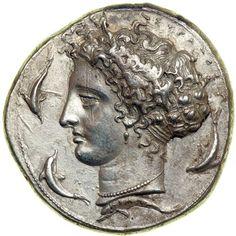 Sicily, Syrakuse. Dionysios I, 406-367 BC. Silver Dekadrachm (43.15g) struck ca. 405-400 BC. ~126,500~