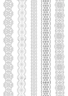 Paper lace ribbons to print and paint everywhere.