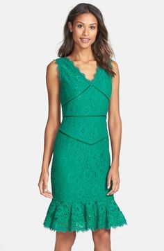 Nue by Shani Lace Tulip Hem Sheath Dress available at #Nordstrom