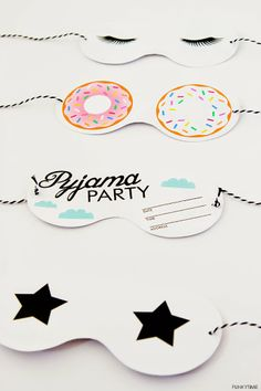 Friday Love - Pyjama Party Invitations! | Art And Chic