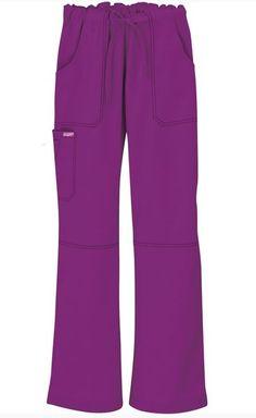 Butter-Soft Scrubs by UA™ Women's 6 Pocket Cargo Drawstring Pant in Berry Burst - Style # UA32C #uniformadvantage #uascrubs #sophiespicks #scrubs #scrubpants #nurse #dental #veterinary #fallfashion #berryburst