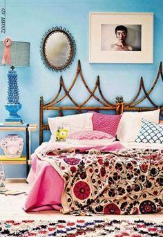 Heel anders maar wel supergaaf. Wellicht een leuk idee voor de logeerkamer.  Bohemien slaapkamer: 6 tips - Residence