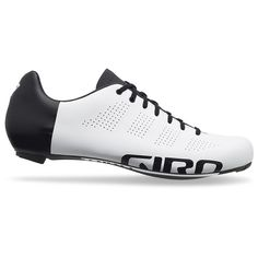 The Giro Empire throws a curveball into the performance road shoe market. A laced closure offers a unique adjustment system and the breathable Evobibre upper used throughout the Giro range keeps comfort at a premium. In addition to this the Easton EC90 Carbon sole is the same as the outsole featured in the Factor meaning this shoe is not just a pretty face.A favourite amongst pros such as Taylor Phinney, the Empire shoe is not just for style. Its 6.5 mm stack height and 251 gram weight make…