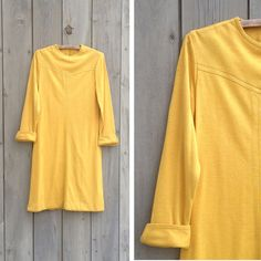 Vintage dress | Mustard knit shift on Etsy, $14.00