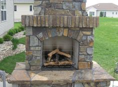 Eldorado Outdoor Fireplace Unit Prescratched (Does not include Stone ...