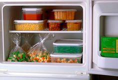 Cardápio de comida congelada pra semana inteira