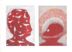 DUPREZ Alexandra Sans titre, 2003 Gouache sur carton 40x55 cm