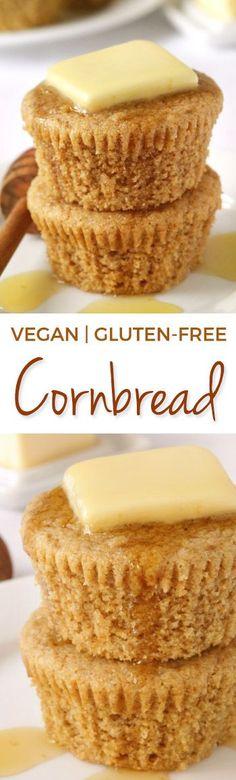 Vegan Cornbread (gluten-free) - Texanerin Baking
