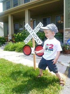 Birthday Crossing Sign