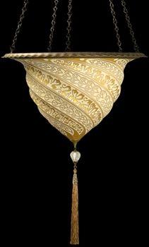 Fortuny Samarkand Glass inverted pendant