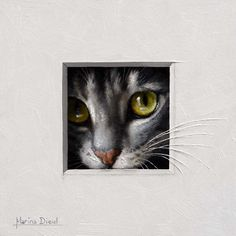 This little cat trompe-l'oeil will be at the Annual Small Works Show: Legacy Gallery Scottsdale Arizona December 10th – 31st Artist Reception & Draw December 10th – 7:00-9:00