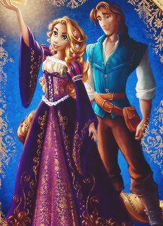 """Disney Fairytale Designer Collection - Rapunzel and Eugene """"Flynn"""" Rider Disney Rapunzel, Walt Disney, Rapunzel And Eugene, Disney Girls, Tangled Rapunzel, Disney Animation, Disney Dream, Disney Love, Disney And Dreamworks"""