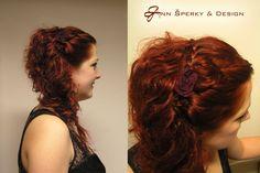 zapletená čelenka Dreadlocks, Hair Styles, Beauty, Hair Plait Styles, Hair Makeup, Hairdos, Haircut Styles, Dreads, Hair Cuts