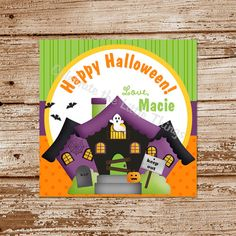 Halloween HAUNTED HOUSE Favor Tags      DIY by CelebrateLilThings, $6.00