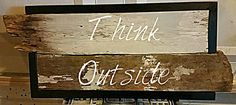 "DIY up cycle wall art ""Think Outside the Box"""