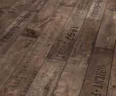 Love this rustic Wine and Fruit Flooring from German flooring company Parador. The pattern was inspired by flooring found in old European cellars, which were often made of wood from discarded wine crates with fired-on inscriptions and dates. So gorgeous! Wooden Flooring, Laminate Flooring, Flooring Ideas, Unique Flooring, Hardwood Floors, Flooring Options, Plank Flooring, Tile Wood, Diy Flooring