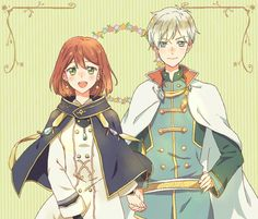 Zen x Shirayuki Snow White With The Red Hair, White Hair, Cool Anime Guys, Anime Love, Akagami No Shirayukihime, Anime Watch, Beautiful Red Hair, Cute Stories, Izu
