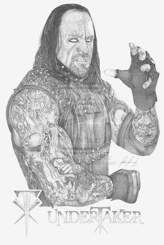 The Undertaker by Lucas-21 on deviantART ~ WWE ~ traditional pencil art