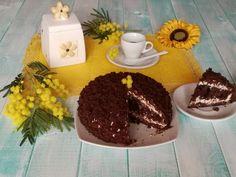 Torta+mimosa+al+cioccolato+con+crema+al+cocco.