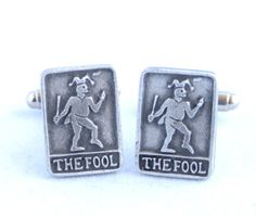 Tarot Cards The FOOL Cufflinks by Hoardersworld in  by PaulSimmons, £15.95