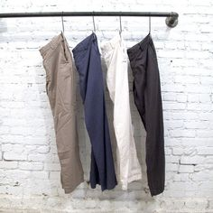 Save Khaki. Clean lines, casual, lightweight twill.