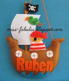 Barco pirata nombre habitacion niño bebe personalizado - Pirate ship boy or baby name for the bedroom CONTACT: carmenmissfabulas@gmail.com