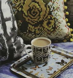 You Magazine October edition, Fretwork mug and Bugs and Butterflies tray by Ella Doran