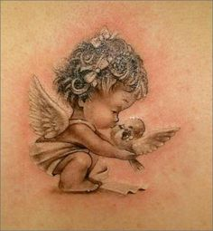sleeping baby angel tattoos Google Search