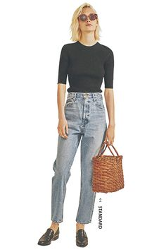 breakfast with bees — giselweb 80s Girl Fashion, Grey Fashion, Denim Fashion, Cute Fashion, Fashion Pants, Paris Fashion, Fashion Looks, Fashion Outfits, Womens Fashion
