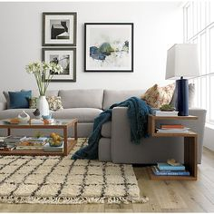 Lounge 3-Piece Sectional Sofa in Sectional Sofas | Crate and Barrel