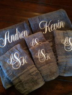 Monogrammed Towel Set Great for Wedding gifts, Shower gifts, Graduation,  Birthday, Anniversary , Housewarming and Retirement
