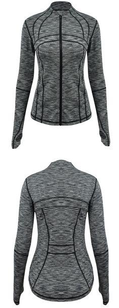 Women's Full Zip Workout Running Sports Slim Fit Jacket