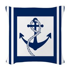 Use these Pillows to accent any living room or bedroom. Customize a pillow or pick from the many throw pillow designs in any size and fabric you want. Nautical Throws, Nautical Stripes, Designer Throw Pillows, Pillow Design, Fabric, Tejido, Tela, Cloths, Fabrics