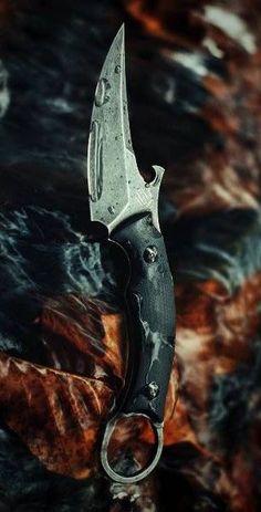 Bastinelli Creations Picolomako EDC Fixed Blade Knife Black G-10