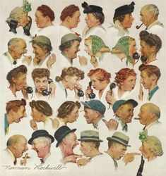 View THE GOSSIPS By Norman Rockwell; oil on canvas; Access more artwork lots and estimated & realized auction prices on MutualArt. Peintures Norman Rockwell, Norman Rockwell Art, Norman Rockwell Paintings, Old Master, Book Gifts, Book Of Life, American Artists, Vintage Art, Pin Up