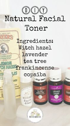 DIY Skin Care Tips : When used as a natural remedy for acne, witch hazel can help reduce redness, inflammation, oiliness and speed up the healing process Yl Essential Oils, Young Living Essential Oils, Essential Oil Blends, Toner For Face, Facial Toner, Facial Diy, Facial Scrubs, Facial Masks, Diy Savon