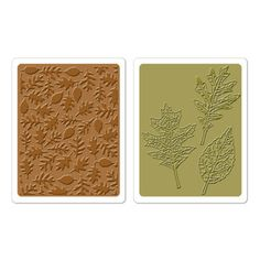Autumn > Textured Leaves Sizzix Texture Fades Embossing Folders - Tim Holtz: A Cherry On Top
