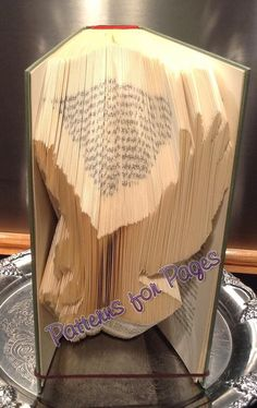 Book folding pattern for an EAGLE by PatternsForPages on Etsy