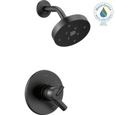 Delta Trinsic Wall Mount Shower Trim Kit with in Matte Black (Valve Not Included) - The Home Depot Roman Tub Faucets, Bathroom Faucets, Delta Trinsic, Old Bathrooms, Boy Bath, Contemporary Baths, Delta Faucets, Faucet Handles, Water Conservation