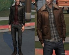 Shearling Collar Jacket (P) at - The Sims 4 Catalog Sims 4 Male Clothes, Sims 4 Clothing, Sims New, Black Hipster, Sims 4 Gameplay, Sims 4 Cc Packs, The Sims 4 Download, Sims 4 Cas, Fashion Figures