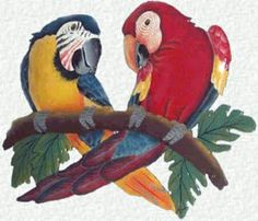 Parrot Hand Painted Metal Wall Art Decor - Tropical Haitian Steel Drum Art - Handcrafted Tropical Metal Art by TropicAccents on Etsy Art Tropical, Design Tropical, Tropical Artwork, Tropical Wall Decor, Tropical Colors, Tropical Birds, Tropical Interior, Tropical Patio, Tropical Furniture