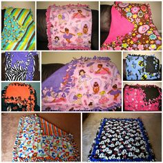 Sewing Blankets No Sew Fleece Tie Blanket (Prayer Knot Blanket) Great tutorial! I am so gonna start making and selling these to people. What a wonderful idea Fleece Tie Blankets, No Sew Fleece Blanket, No Sew Blankets, Weighted Blanket, Tie Pillows, Fleece Throw, Diy Projects To Try, Crafts To Make, Fun Crafts