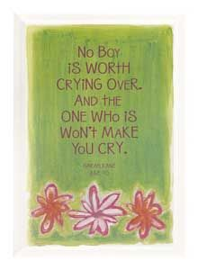No boy is worth crying over. And the one who is won't make you cry. ~ Sarah Kane Age 10 ~This is such an awesome quote and so true! Cute Quotes, Great Quotes, Inspirational Quotes, Make You Cry, How To Make, Unique Gifts For Women, Good Advice, Wise Words, Favorite Quotes
