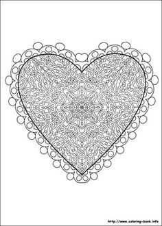 giant Valentine's day coloring page / 12 pages / free printable ...