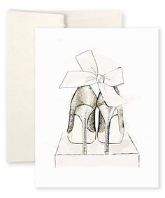This Alison Gordon Studio 'Party Shoes' Greeting Card by Alison Gordon Studio is perfect! #zulilyfinds