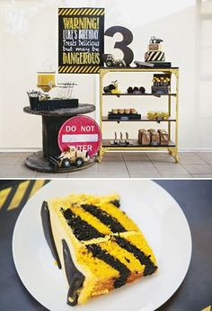 Vintage Style Construction Birthday Party {Black & Yellow} Liams 4th?!