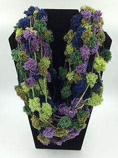Infinity Scarf - Necklace Scarf - Pom Pom Scarf