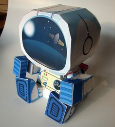 Papercraft4u | Free Papercrafts, Paper Toys, Paper Models, Gratis: Paper Toy - Astronaut & Rocketship Box
